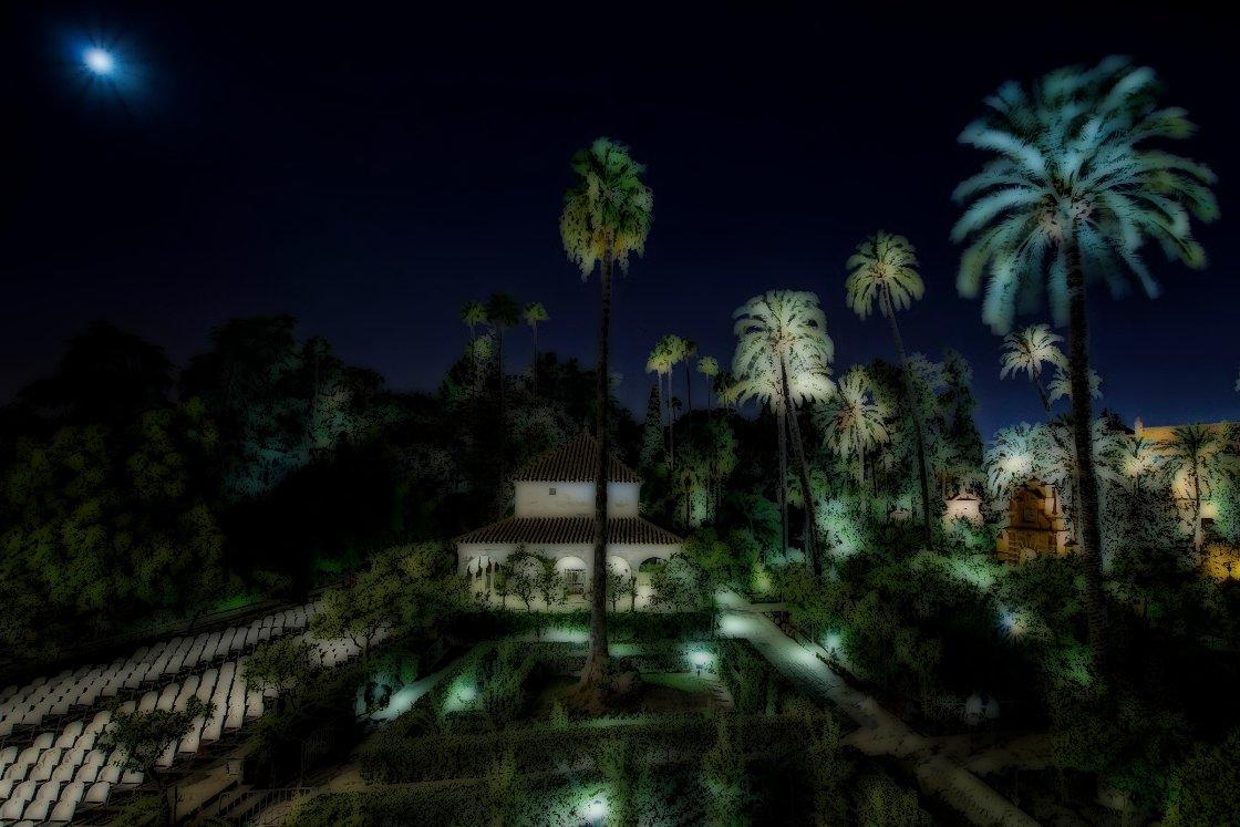 Noches en los jardines del real alc zar 2013 jard n del for Cenador de jardin