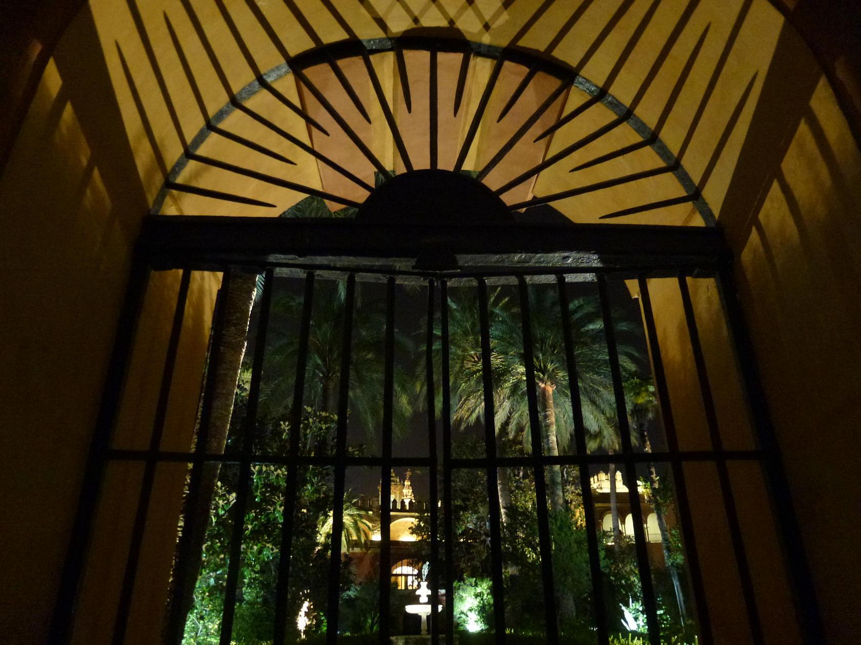 Interior del cenador de la alcoba
