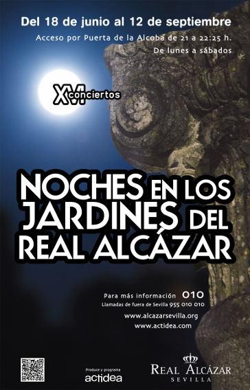 cartel de Noches en los jardines del Alcázar - XVI Conciertos - 2015