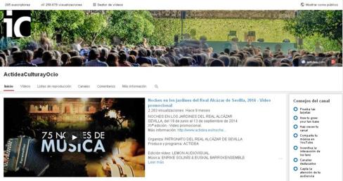 Enlace al video promocional de Noches en los Jardines del Real Alcázar 2021