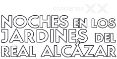 Logotipo de Noches en los Jardines del Real Alcázar